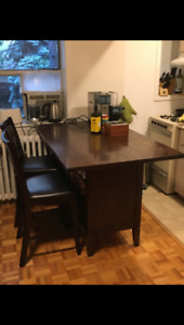 Kitchen Island Table With Two Stools (Need Gone ASAP!)