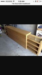 Malm queen bed and storage headboard  Kawartha Lakes Peterborough Area image 3