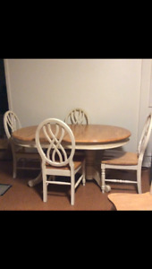 5pc Solid Oak Country Rustic Classic Style Dining Set
