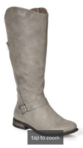 Slate Grey Wide-Width Tall Riding Boots