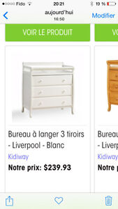 Table a langer - commode 3 tiroirs