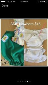 Newborn AMP cloth diapers