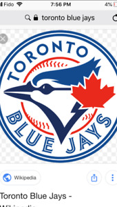 BLUE JAYS VS TAMPA SATURDAY 2 tickets AUG 11TH 4:07pm