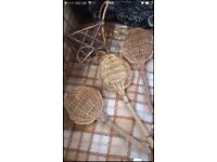 Wicker spoons aprox 12 inch long + came pram £7.50 the lot