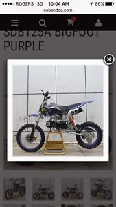 Looking for 110 or 125cc dirt bike