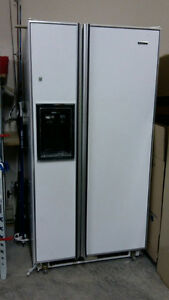 refrigerator with side freezer and water and ice dispenser