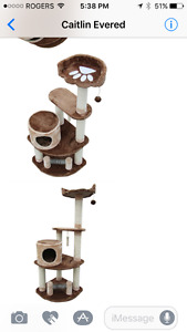 Cat tree - barely used- brown - already assembled