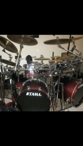 Tama starassic maple 7 piece plus octobans, hardware and cymbals
