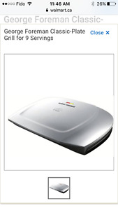 George Foreman Grill-$50