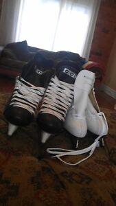 2 paires de patins neufs