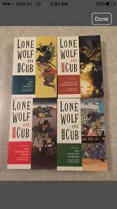 LONE WOLF & CUB SOFT COVER THICK COMIC BOOKS 1,2,4 & 18!