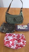 $10 for the lot. Wallet, 2 Makeup Bags & Purse