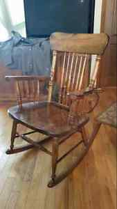 Solid wood rocking chair