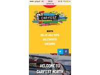 Carfest full weekend tickets + camping