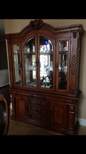Cupboards dresser,  gas stove, bamboo dining set