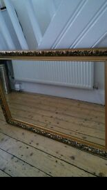 Large gold mirror,
