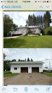 House and Garage For Rent Rural Leduc County