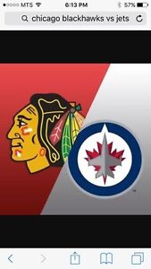 Jets Tickets - Blackhawks and Flames
