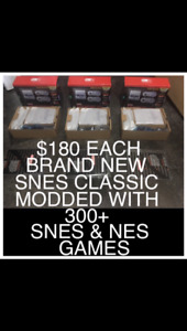 SNES CLASSICS BRAND NEW MODDED WITH 300+ BEST GAMES $180 EACH