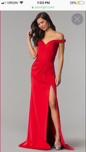 Brand new red evening gown
