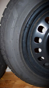 Full set 265/60R18 Winter Tires on Jeep Rims - Excellent!!
