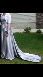 Silver Prom or Wedding Dress, like new
