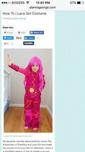 Lava girl Halloween costume size 3T to 4T