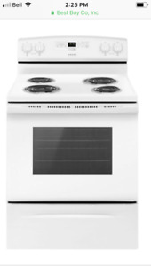White electric element stove