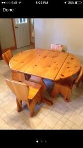 Pine kitchen table and chairs Kawartha Lakes Peterborough Area image 3