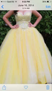 Yellow graduation dress for sale