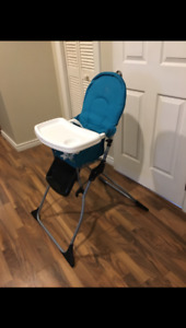 High chair-collapsible-portable-clean-great shape