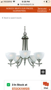 BRAND NEW CHANDELIER/Never Used/Never Installed/TWO MONTHS OLD