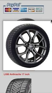 Winter package (tires on wheels) for 2016 Lexus IS.