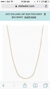 "Stella and Dot Chain and charm ""S"""