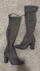 Call It Spring Thigh High Boots Grey
