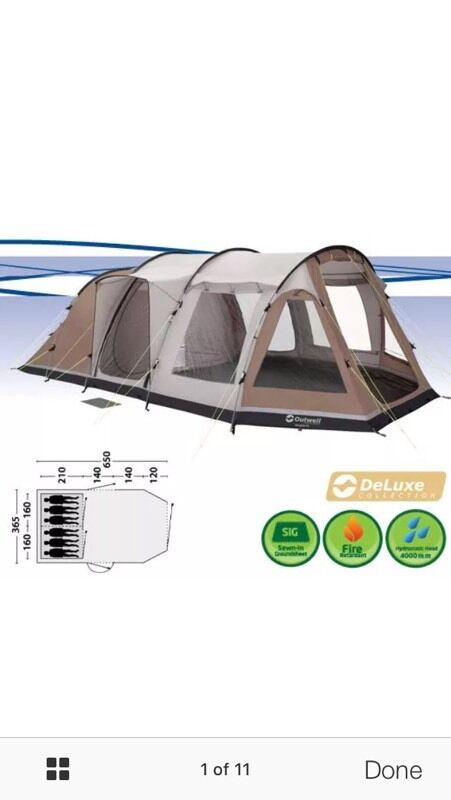 Outwell Nevada xl 6berth tent front extension canopy carpet  sc 1 st  Gumtree & Outwell Nevada xl 6berth tent front extension canopy carpet | in ...