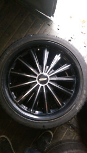 17 baccarat rims with 4 low profile fallen tires