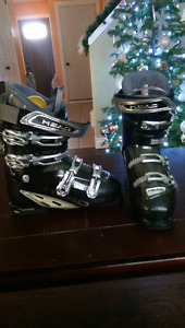 Men skis (size 162) and boots ( size 28-28.5)