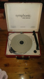 Symphonic working  antique record player excellent cond.