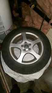 Volkswagen 15 inch rims with summer tires.