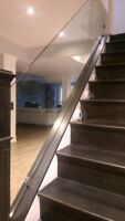 Glass railings for stairs decks balconies offices shower Glass
