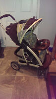 Graco stroller with base and infant car seat