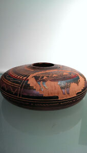 Navajo Etched Horse Hair Pottery