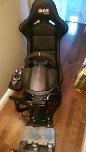 Rseat RS1 Thrustmaster t500, th8a, 599xx alcantara wheel upgrade