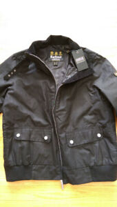 NWT Barbour Women's Tain Waxed Bomber Jacket (Size 10 US)