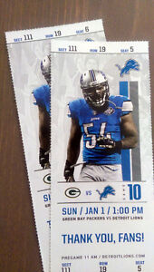 Detroit Lions NFL Tickets vs Green Bay Packers January 1st 1pm London Ontario image 1