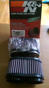 K&N RU-2922 pod filters, new