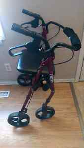 Hugo elite walker with seat and storage pouch
