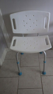 Shower and bath seat with back, Aquasense