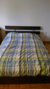 Black ikea Double bed for sale